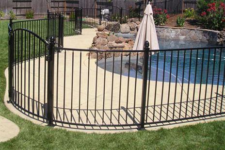 Phoenix Wrought Iron Pool Fence